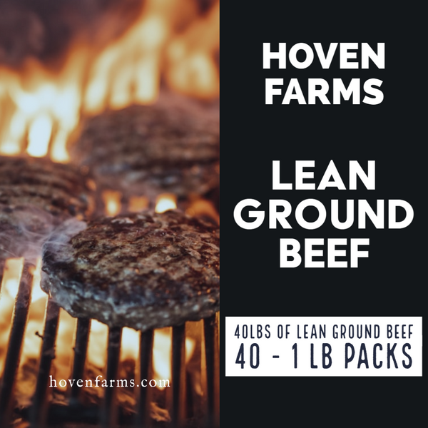 40 lb Bulk Case - LEAN Ground Beef