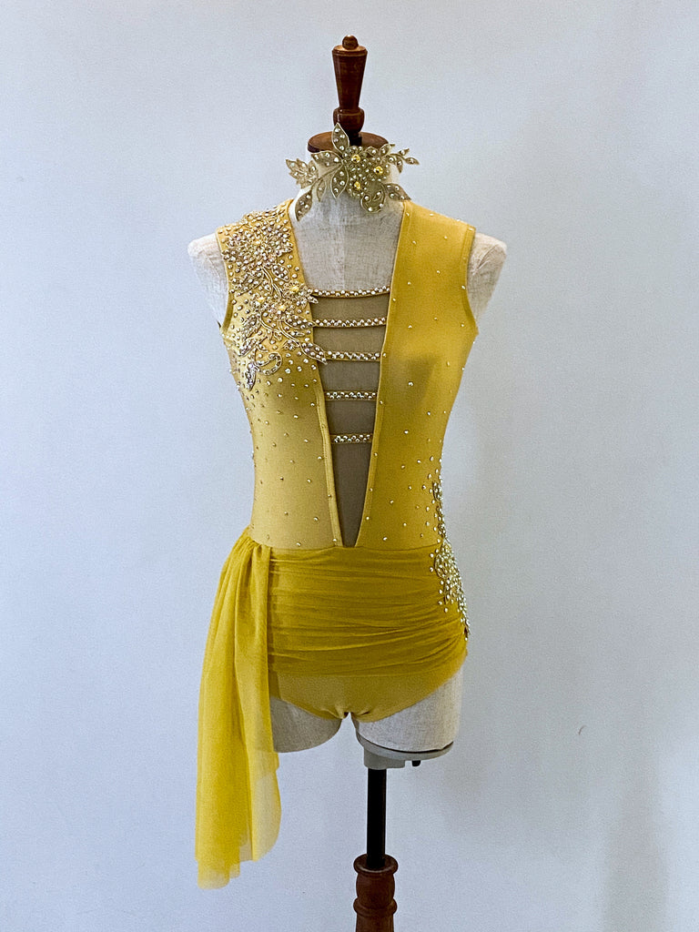 AS 8 Gold Lyrical Contemporary Costume