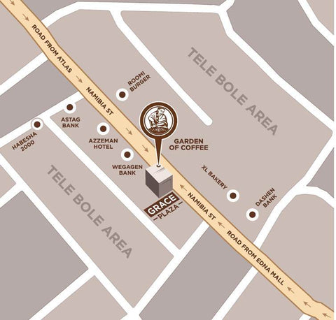 Garden of Coffee Tele Bole Location Map