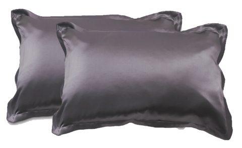 Pillowcase's (TWIN SET) - 100% Mulberry Silk - Charcoal