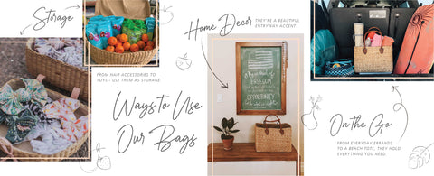 ways to use seagrass bags
