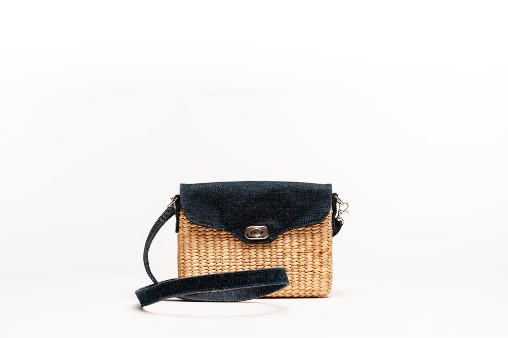 Ella Wallet Crossbody Clutch- Denim