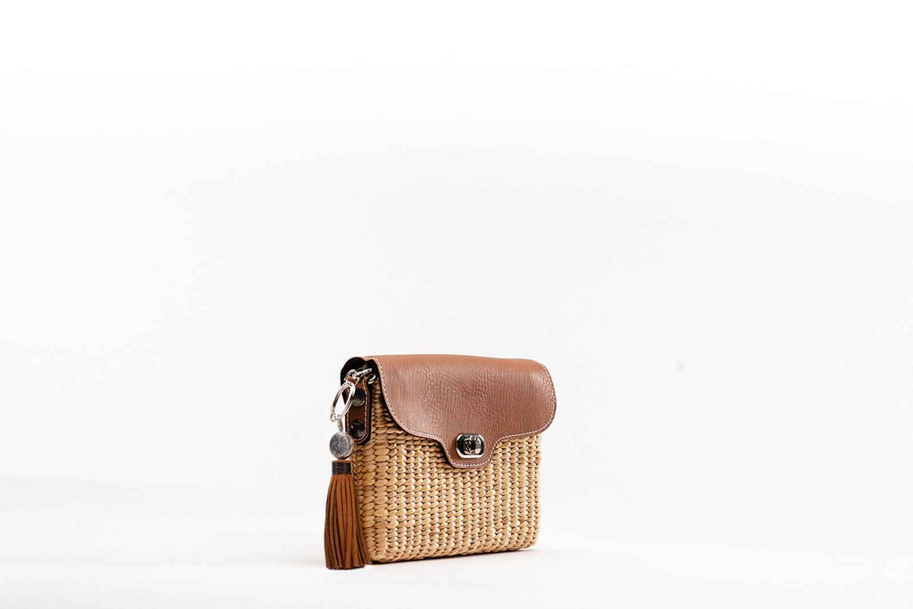 Ella Wallet Crossbody-Tan