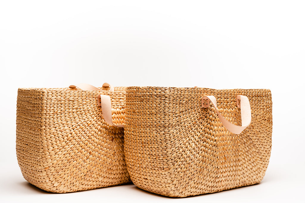 Garden Rattan Shopping Basket (Multiple sizes)