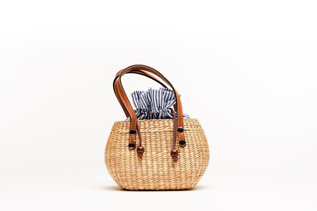 Mini tote striped