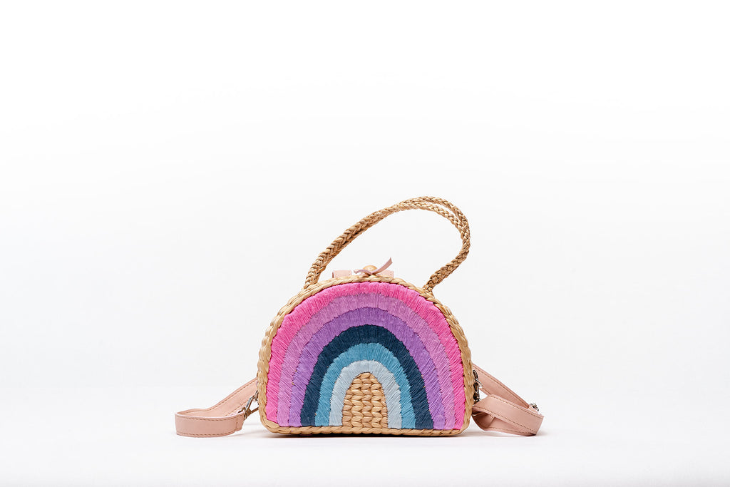 Pleiades x Sea & Grass Plum Rainbow backpack