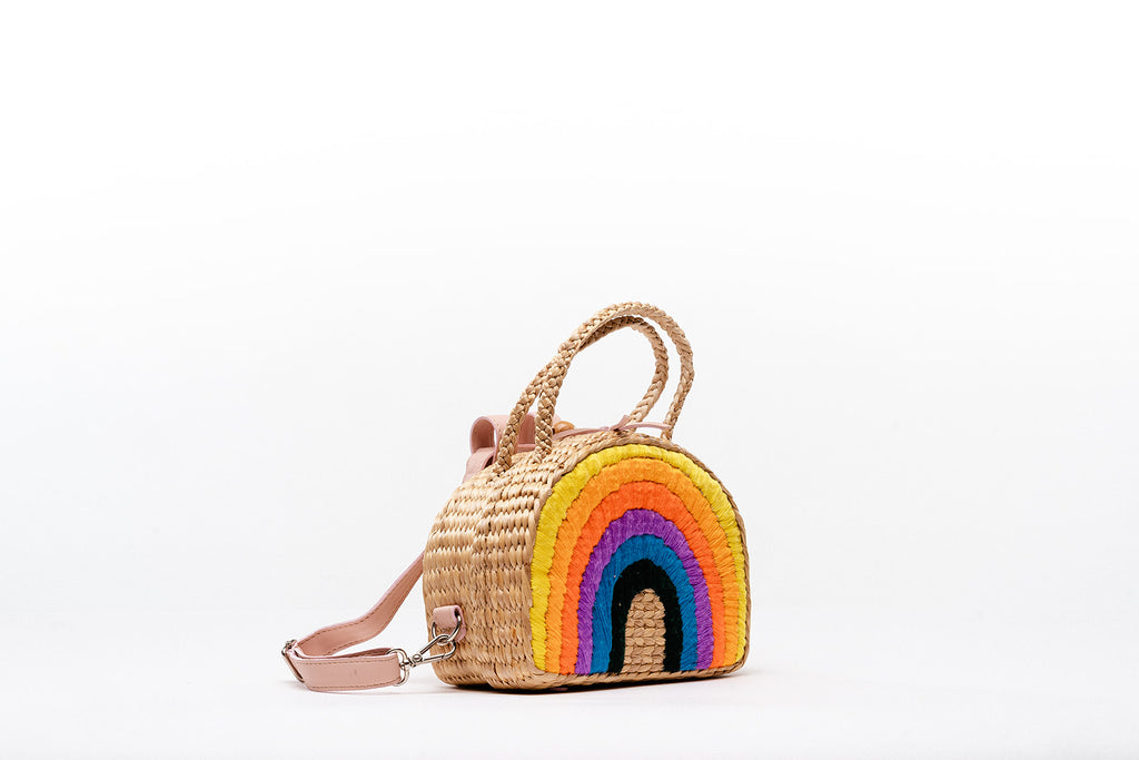 Pleiades x Sea & Grass Primary Rainbow backpack