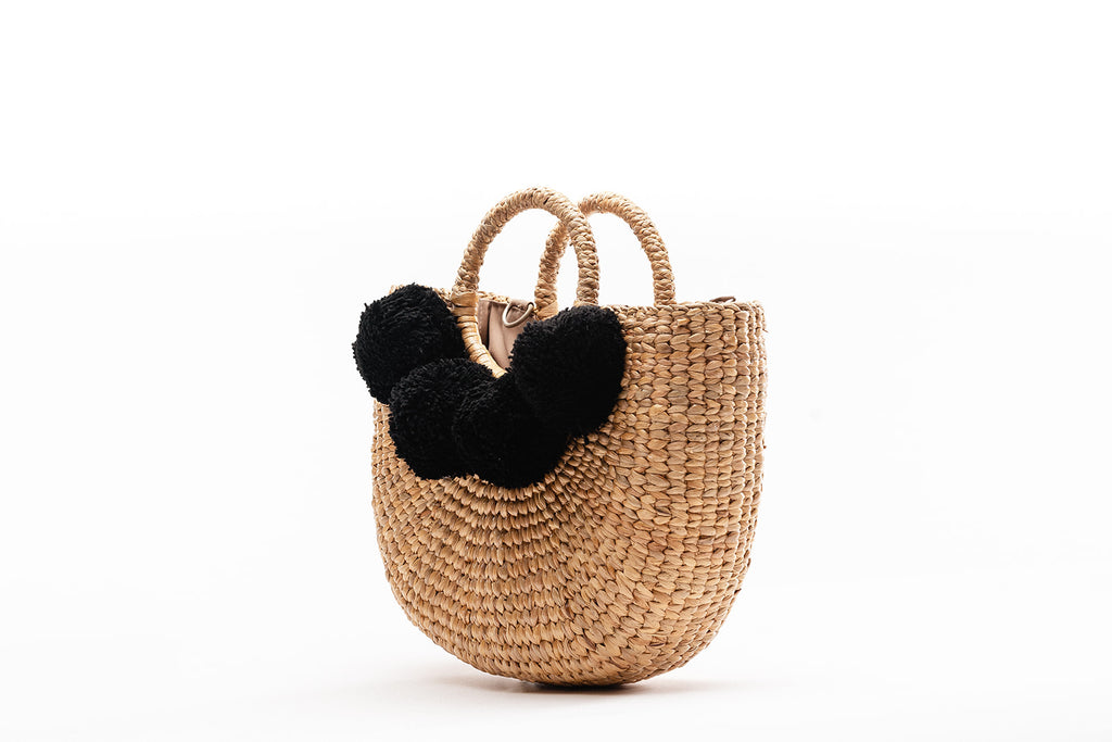 Camryn Black Pom Pom- Multiple sizes