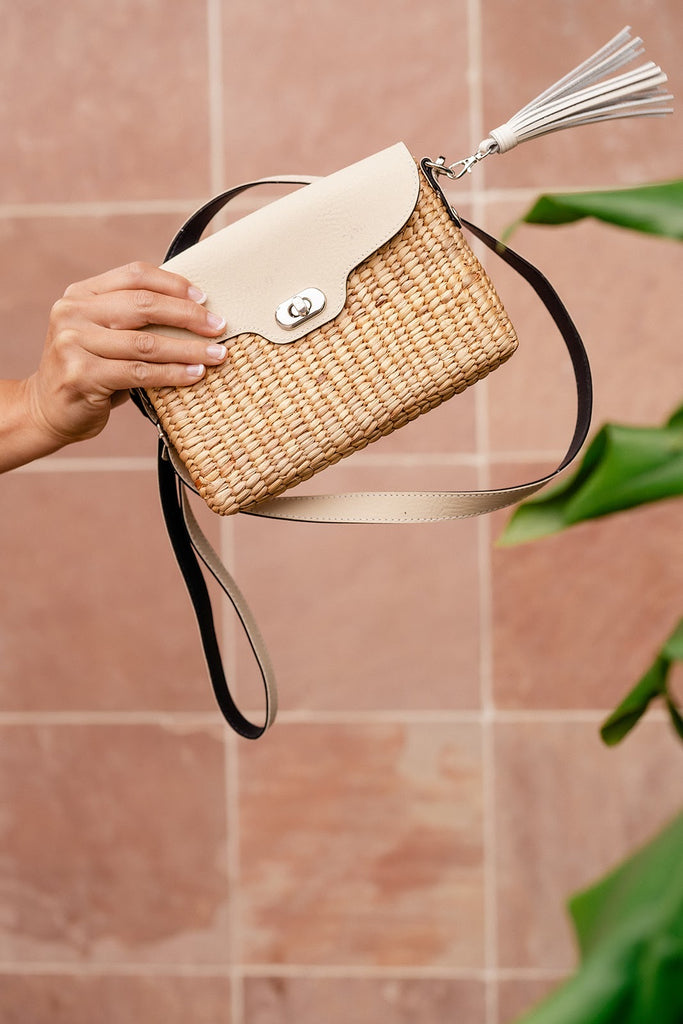 Ella Wallet Crossbody- Ivory