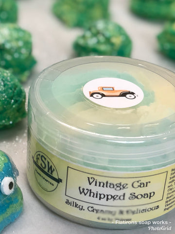 Vintage Car Whipped Soap