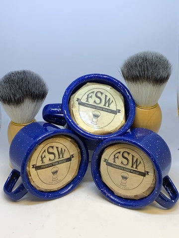 Men - Shaving Soap in Enameled Cup