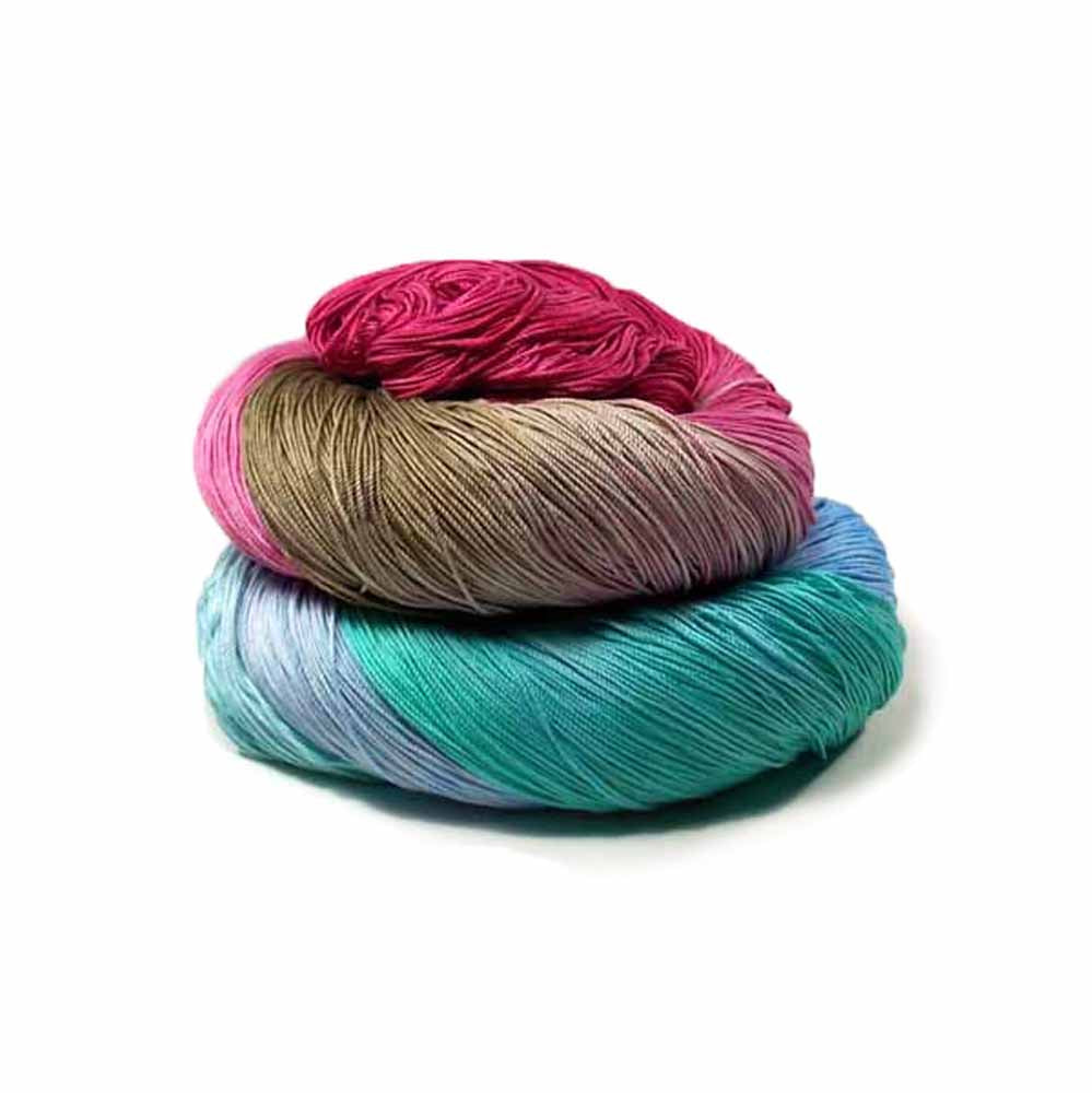 Light Blue, Blue, Aqua, Khaki, Burgundy thread