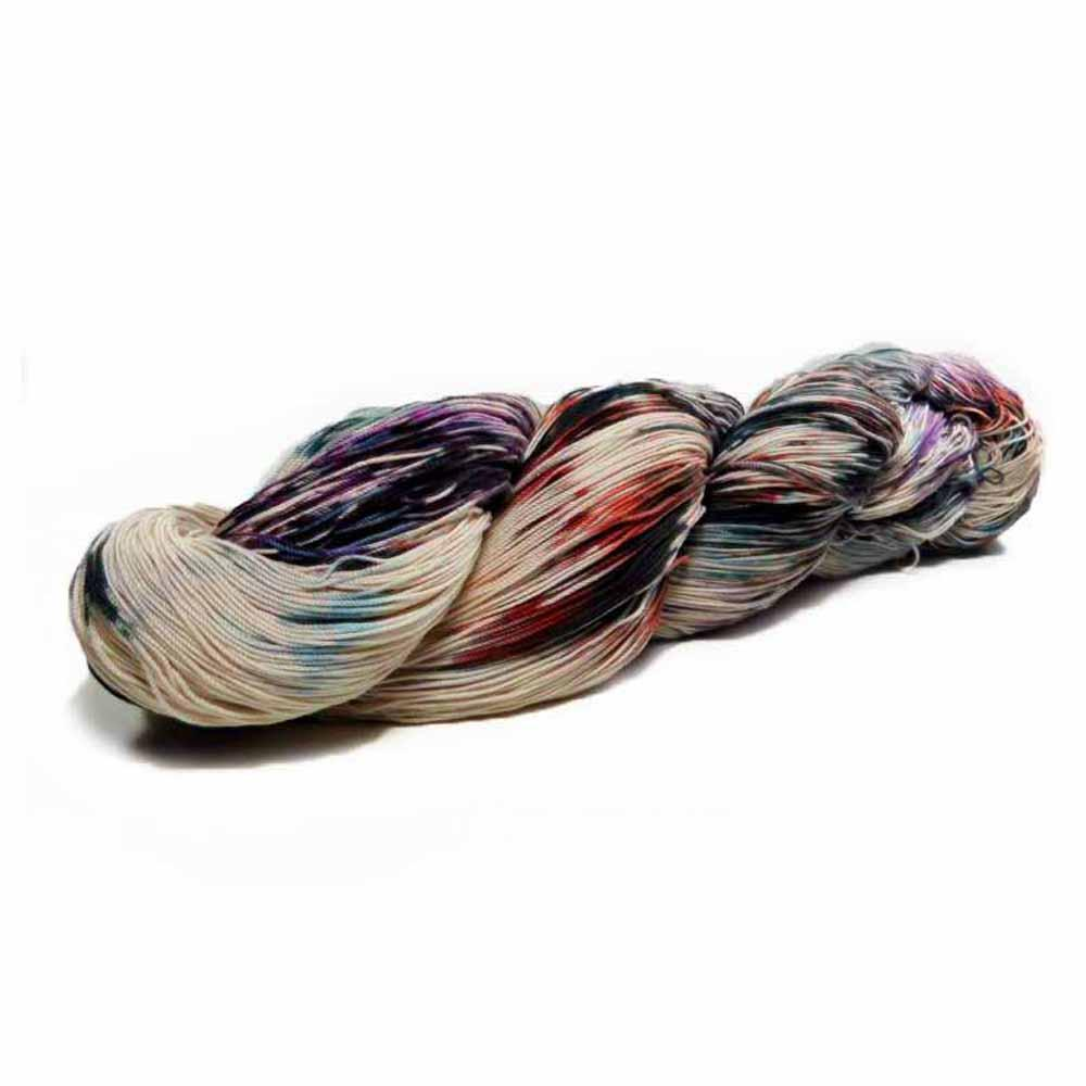hand dyed multicolored tatting thread by Nothingbutstring
