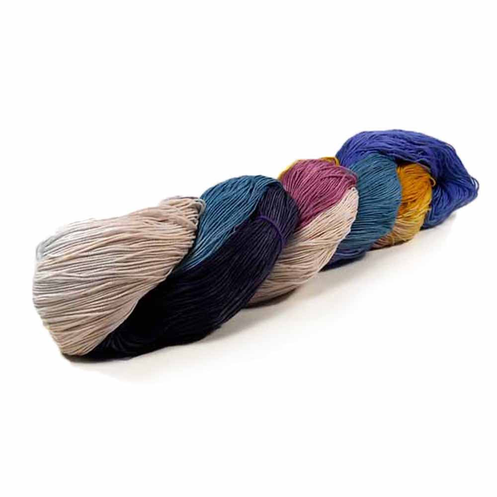 Hand Dyed 6 Color Thread by Nothingbutstring