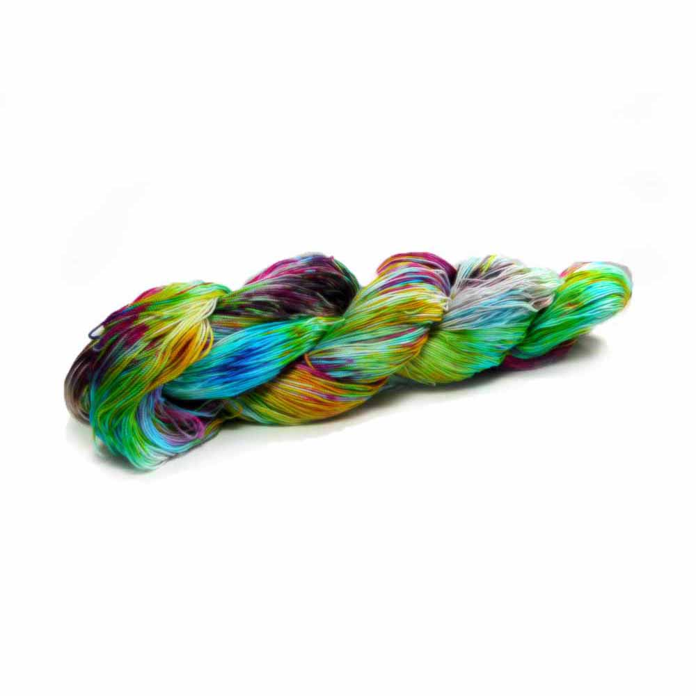 bold multicolored ice dyed by Nothingbutstring