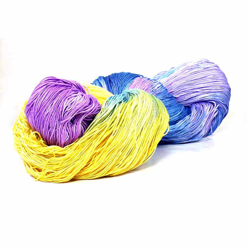 Hand Dyed Fine Cotton Yarn, Lace Weight Yarn, Crochet Doily Supply