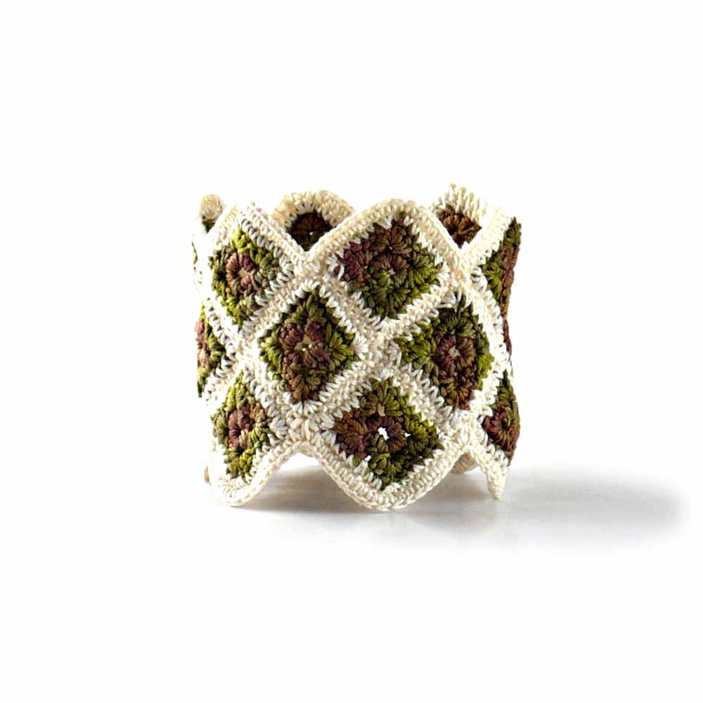 Crocheted Art Fiber Bracelet