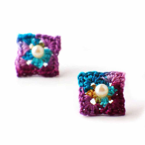 Square Earrings by Nothingbutstring