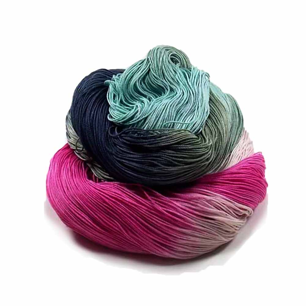 Hand Dyed Cotton Crochet Thread, Crochet Doily Supply, Lace Weight Yarn