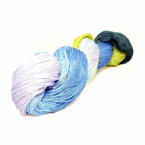 Ocean Colored Crochet Supplies, Tatting Thread, Fine Cotton Yarn