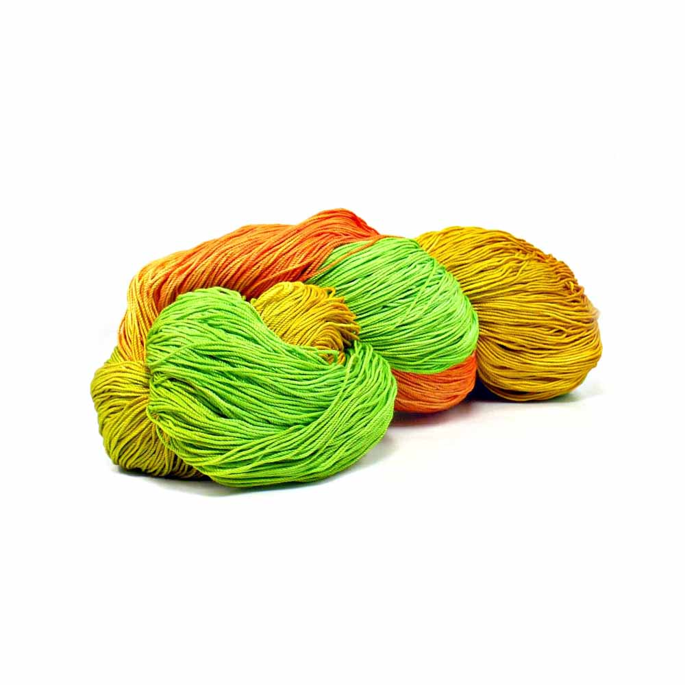 Orange, yellow and green colorway by Nothingbutstring