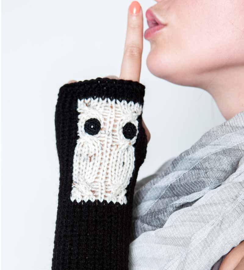 Owl arm warmers by Nothingbutstring