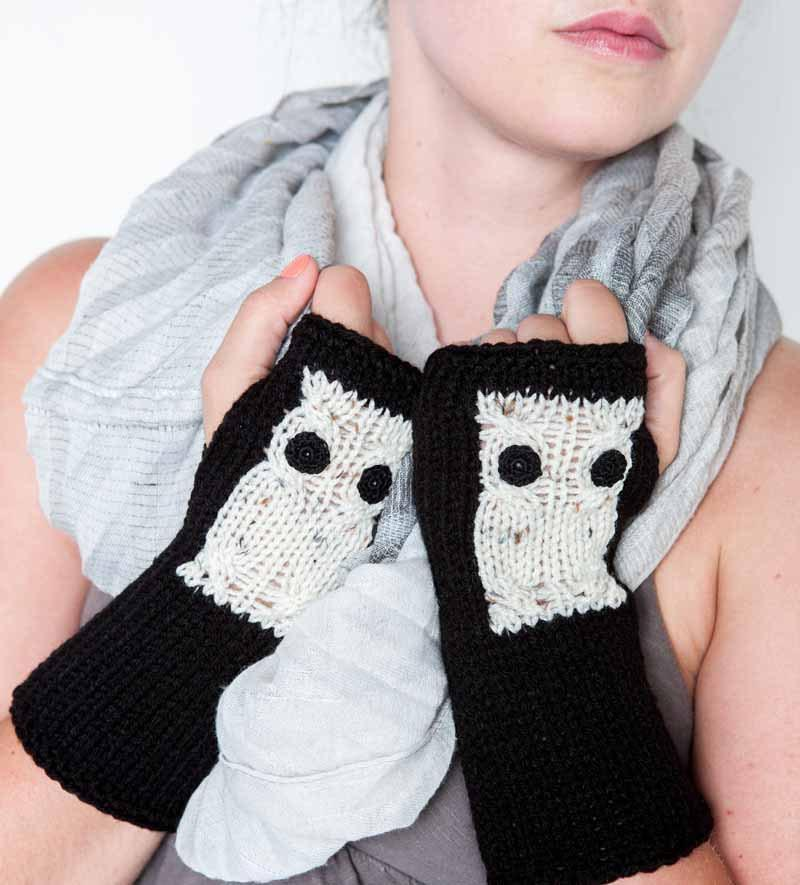 Black fingerless gloves by Nothingbutstring