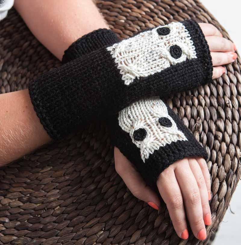 Black winter gloves by Nothingbutstring