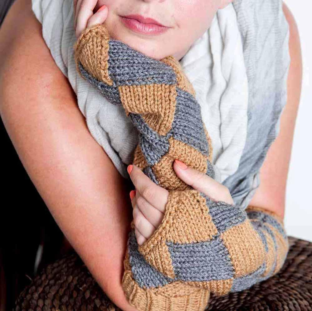 Brown Fingerless Gloves by Nothingbutstring