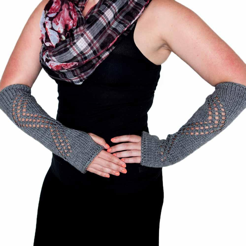 Gray Arm Warmers by Nothingbutstring