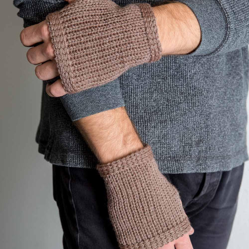 Nothingbutstring Gloves Mushroom Knitted Men's Fingerless Gloves