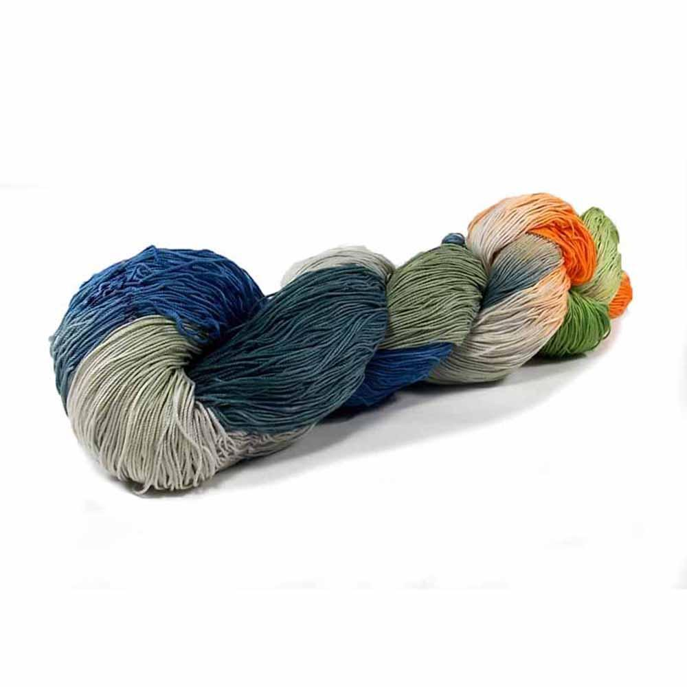 green, orange, grey and blue colorway by Nothingbutstring