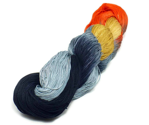 Nothingbutstring Hand dyed thread Cats Eye - 150 Yards of Hand Dyed Halloween Crochet Thread