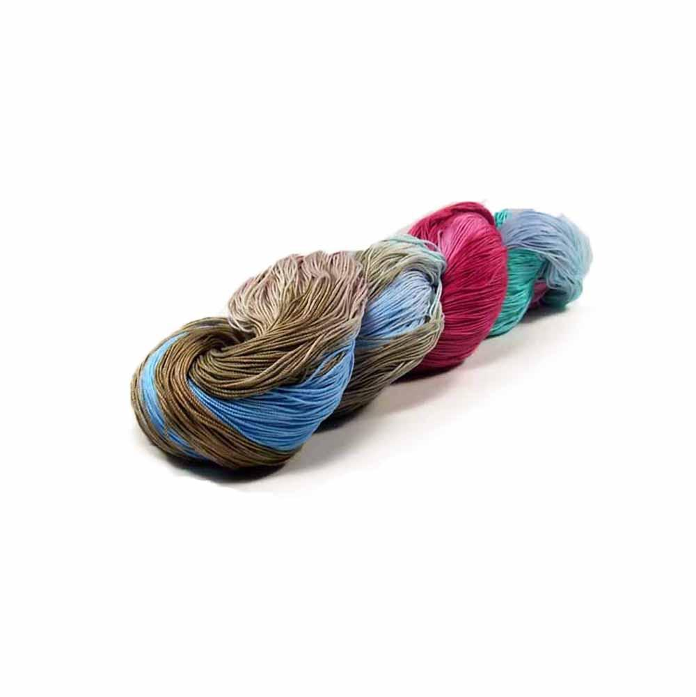 Colorful hand dyed thread by Nothingbutstring