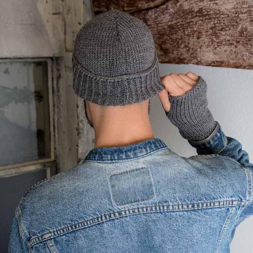 Nothingbutstring Knit Hat Grey Mens Personalized Cuffed Knit Hat