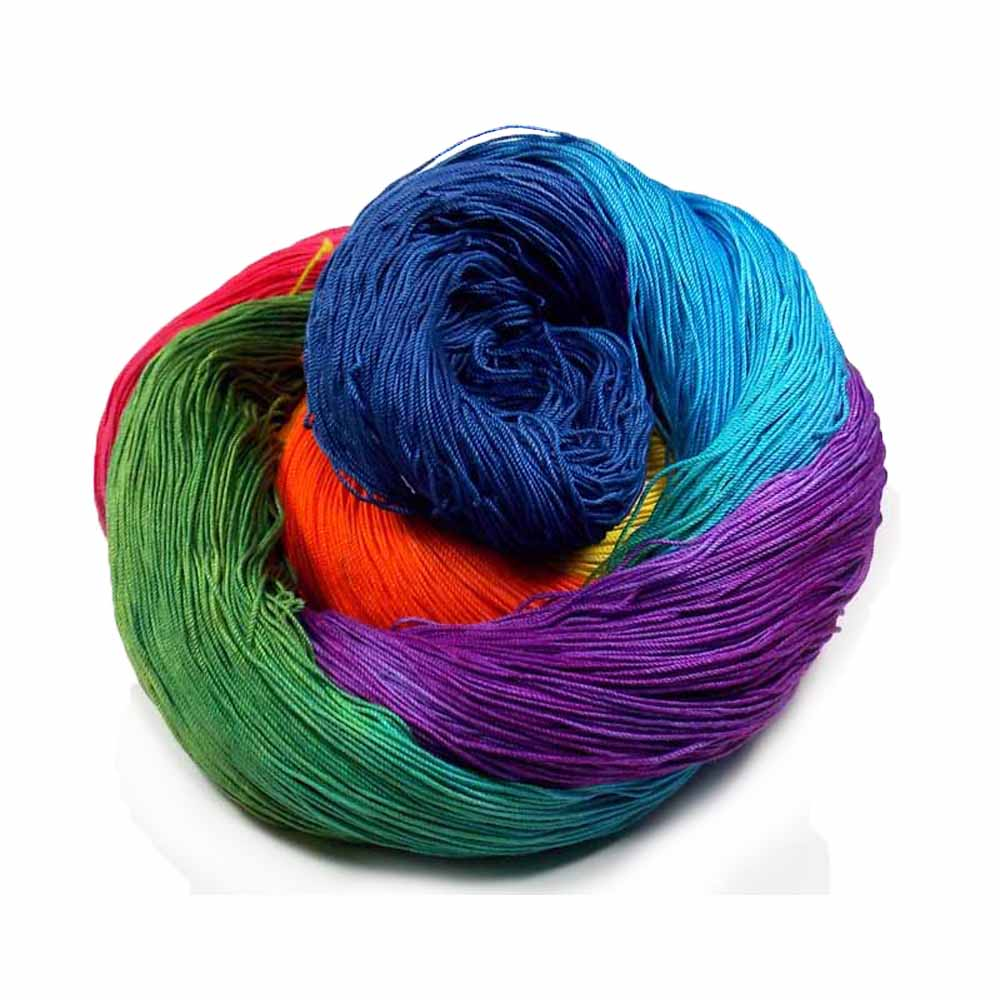 Red, Yellow, Green, Blue, Indigo, Purple thread by Nothingbutstring