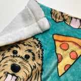 "Pizza Dog Blanket - 30"" x 40"""