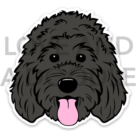 Happy Dood Sticker - Black 1