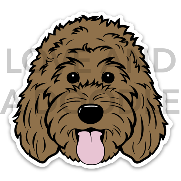 Happy Dood Sticker - Brown 1