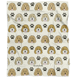Paw Print Pattern Fleece Blanket - Customize it!