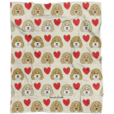 Hearts Pattern Fleece Blanket - Customize it!