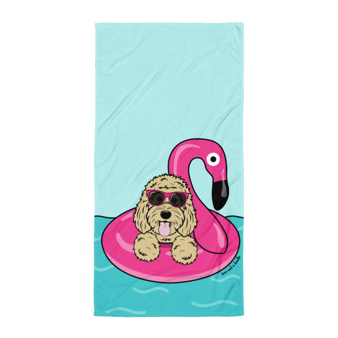 Flamingo Floatie Beach Towel - Customize it!