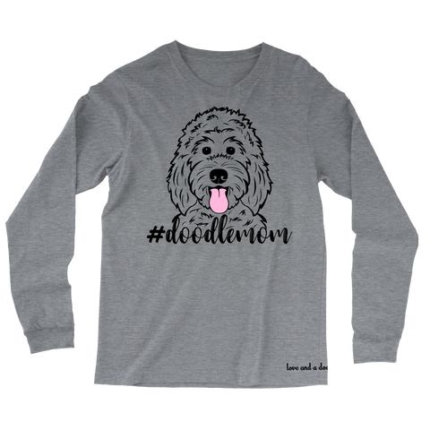 Hashtag Doodle Mom long sleeve tee - More colors available