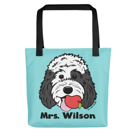 Teacher's Pet standard custom tote bag