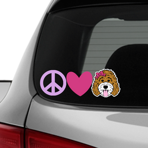ADD-ON Peace, Love Decals