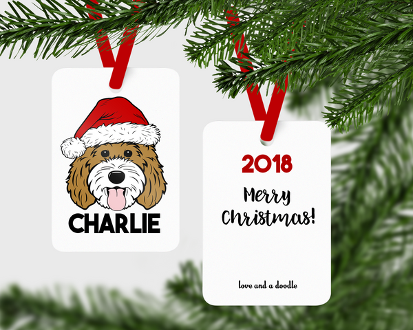 Doodle Claus Aluminum Ornament - Choose your design!