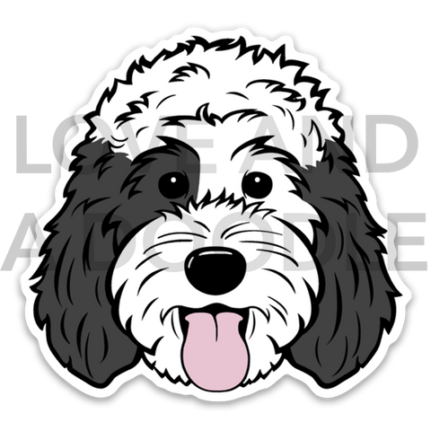 Happy Dood Sticker - Sheepadoodle 2