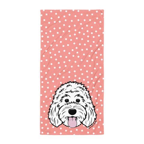 Scattered Squares Beach Towel - Customize it!