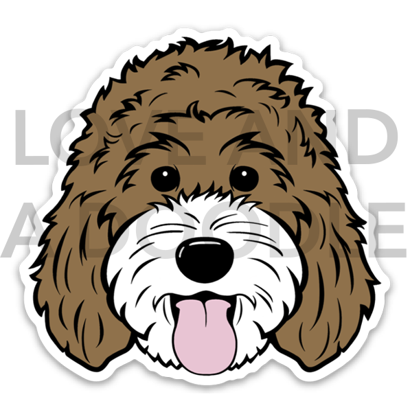 Happy Dood Sticker - Brown 2