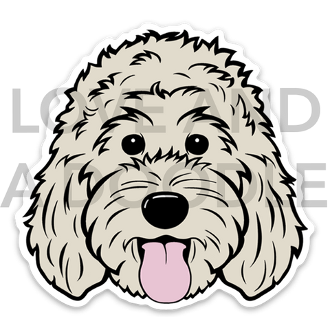 Happy Dood Sticker - Cream 1